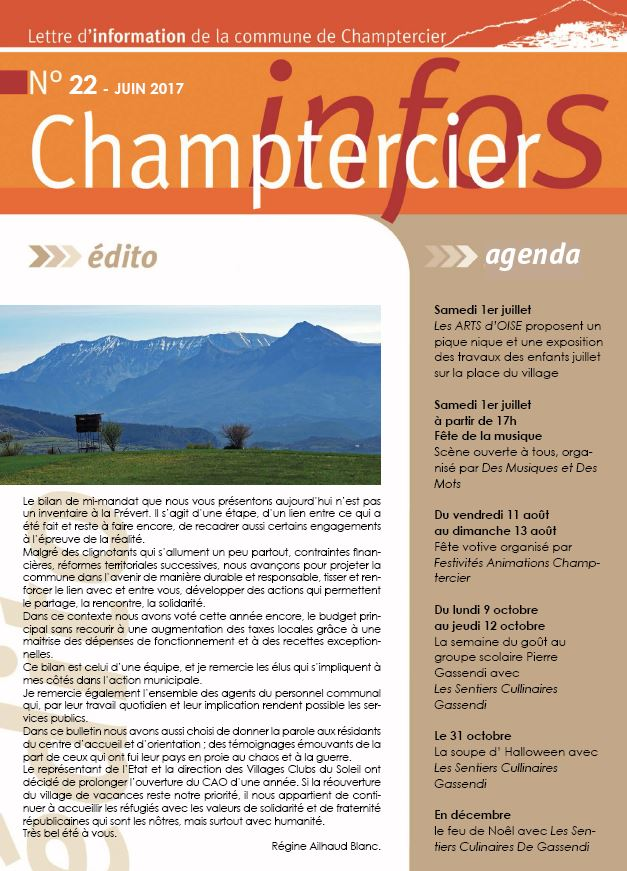 journal champtercier